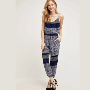 Anthropologie Lilka Blue Jumpsuit Size Small